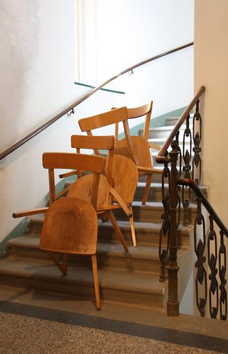 chair descending a staircase