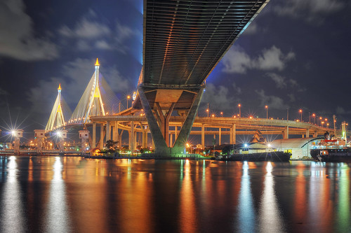 Bhumibol Bridge - Bangkok by DeeMakMak, on Flickr