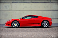 Challenge Stradale (Bart Willemstein) Tags: auto red en white black netherlands car amazing nikon industrial photoshoot profile stripe 360 automotive ferrari nikkor rims sideview challenge hoofddorp stradale corsa fotoshoot rossa bartw d300s autogespot autogespotcom bartwillemsteinnl