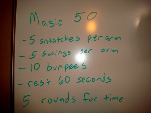 workout of the day. mon. 13 sept.