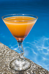 Poolside Cocktail (Alex Bramwell) Tags: blue red summer vacation orange water pool drink beverage swimmingpool cocktail luxury sexonthebeach layered