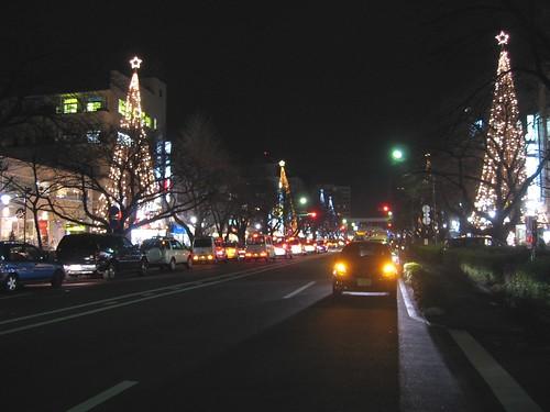 国立駅前大学通りのイルミネーション 2008.12.24 by Poran111