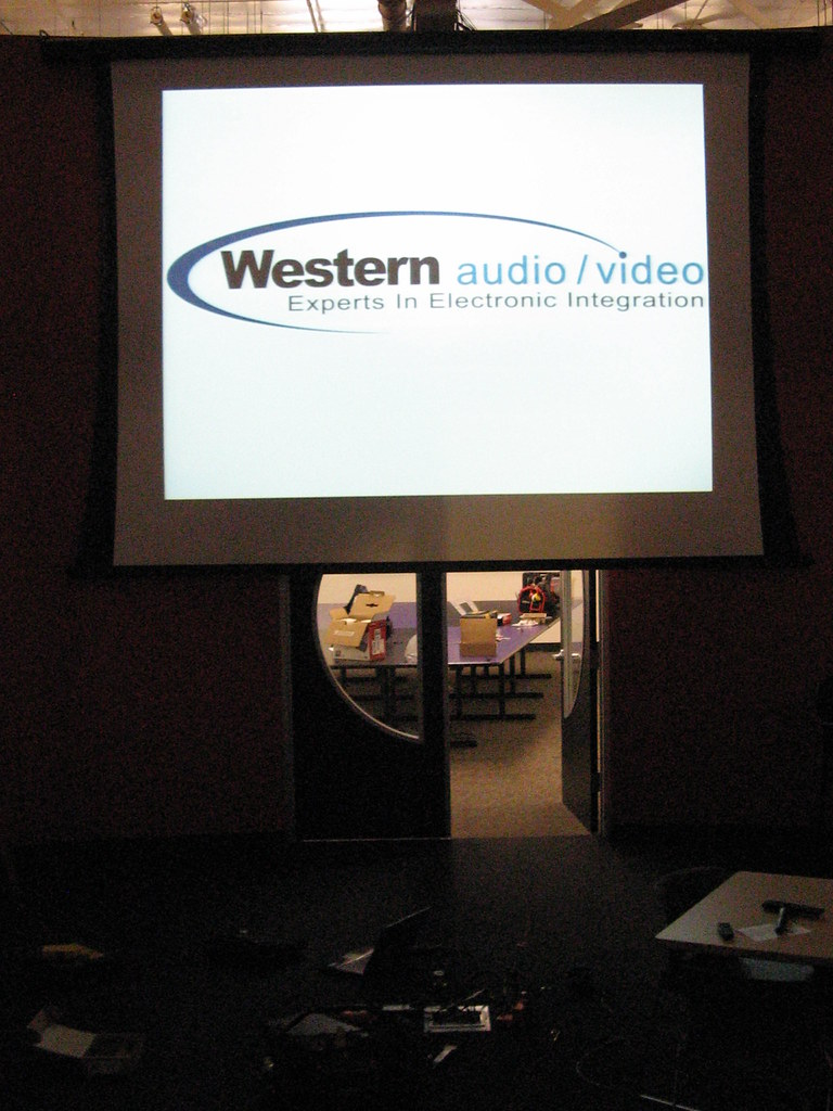 Western Audio Video Image on a Draper Premier Projection Screen