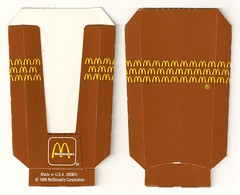 1986 McDonald's Hash Brown container (daniel85r) Tags: mcdonalds 80s vintagepackaging