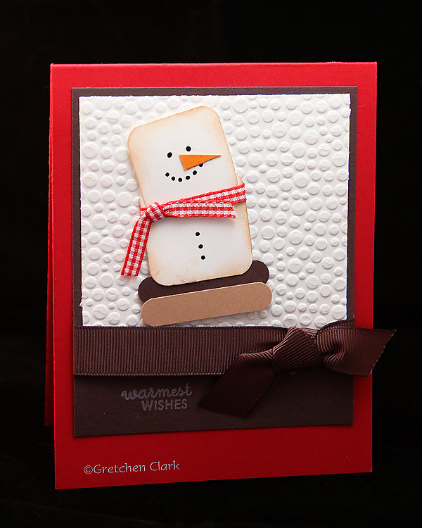 Christmas smore snowman