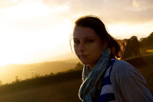 フリー写真素材, 人物, 女性, 夕日・夕焼け・日没, イギリス人,
