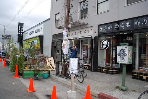 Coffee, Bikes, Music, Parklet.