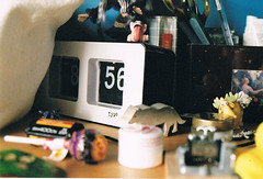 (joesee.) Tags: clock film girl 35mm vintage wolf moose josie teen fairy typo lollypop stationary neville bedsidetable sooc