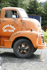 (wirednerd) Tags: old orange truck farm halfmoonbay gmc lemos