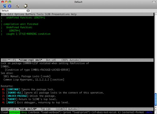 PAIP in SBCL on Emacs/SLIME