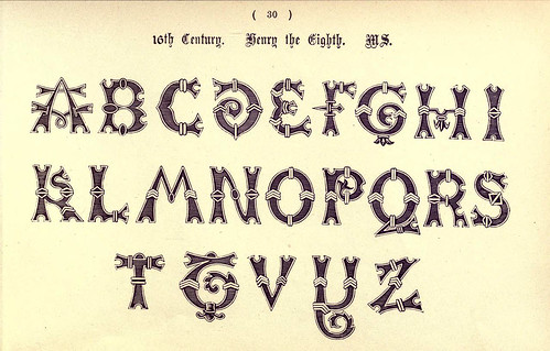 018-Siglo XVI Enrique VIII- The book of ornamental alphabets, ancient and mediaeval..1914-F. Delamotte
