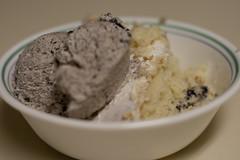 Cookies & Cream ice cream and Blueberry White Cake