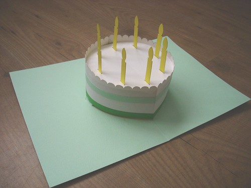 popup birthday card, Birthday card