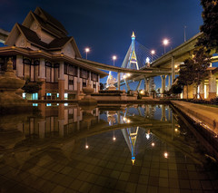 Bhumibold Bridge Reflection - Thonburi