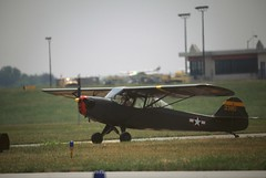 Taylorcraft L-2 (mountlaurelphotographer) Tags: observation aircraft airshow l2 spotter liason taylorcraft antiqueaircraft