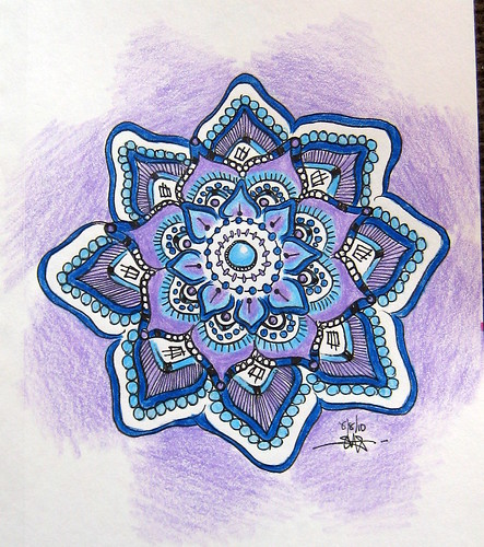 Lilac & Blue mandala