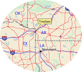 Image result for map Ark La Tex