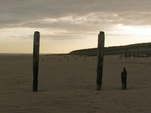 Old coastal defences at Spurn Point