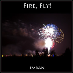 Plum Sky, Fire Fly - IMRAN  300+ Views! (ImranAnwar) Tags: trees red sky newyork silhouette night clouds square outdoors landscapes suffolk nikon fireworks framed longisland celebrations fourthofjuly imran 2010 d300 patchogue imrananwar eastpatchogue