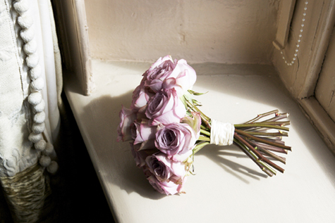 Bouquet of dusky pink roses