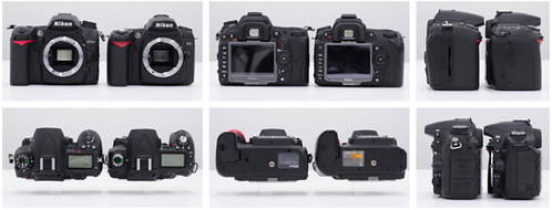 Nikon D7000 vs Nikon D90 Side-By-Side Comparison at DC Watch, Impress
