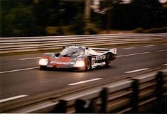 Porsche 962C - Le Mans 1989 (mendaman) Tags: world sports championship des mans le prototype porsche 1989 straight ligne droite 962c wspc hunaudières musanne