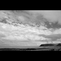 St Bees Head #2 (Dave-Mann) Tags: uk sea blackandwhite seascape beach landscape seaside lakedistrict coastal cumbria headland stbees 18200mm nikond300s