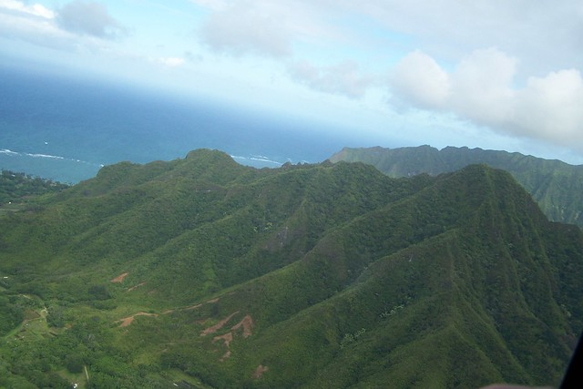 Oahu Interior from Helicopter