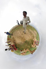 Camel Driver (gadl) Tags: panorama india desert gimp camel projection planet handheld jun thar rajasthan inde 360 aurlia stereographic hugin plante enblend thardesert mathmap stereographicprojection samdunes