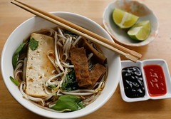 Vegan Pho (wishmewell95) Tags: food hot recipe asian soup vegan tofu mint vegetarian basil noodles comfort seitan cilantro ricenoodles