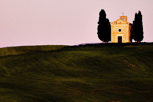 On the road from Pienza to San Quirico d'Orcia, in Tuscany (Italy) by rayced