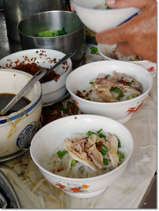 Bowls of Koay Teow Thng in Preparation