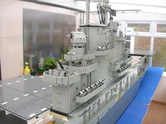 USS Intrepid Island 10 (Lego Monster) Tags: ship lego wip aircraftcarrier usnavy carrier ussintrepid essexclass