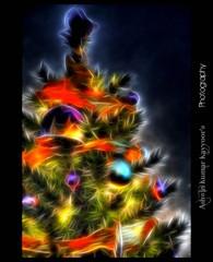 Tree of Wishes (Ashwin Kumar Kayyoor) Tags: christmas tree art photography perception glow gifts wishes fractal fractals merry ashwin kumar