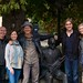 What's the collective noun for Song-writers? Kieran Goss, Ann Kinsella, Rodney Crowell, Brendan Murphy and Hannah Crowell outside The Centre.