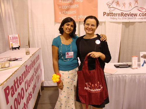 me with Deepika of Sewing Pattern Review