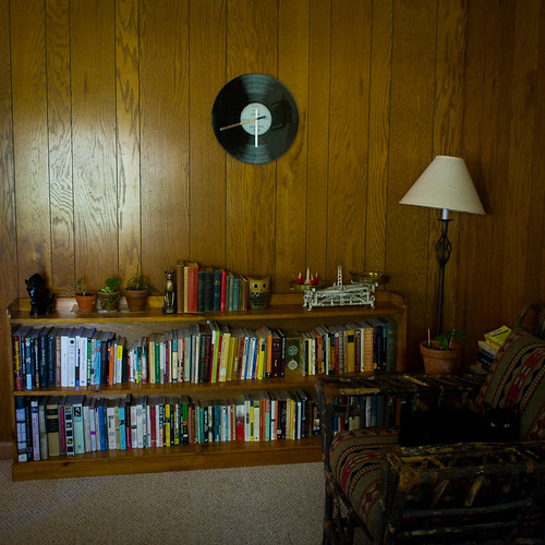 Books in the Den.