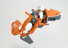 46-T Booster Bike (Titolian) Tags: bike lego space booster racer