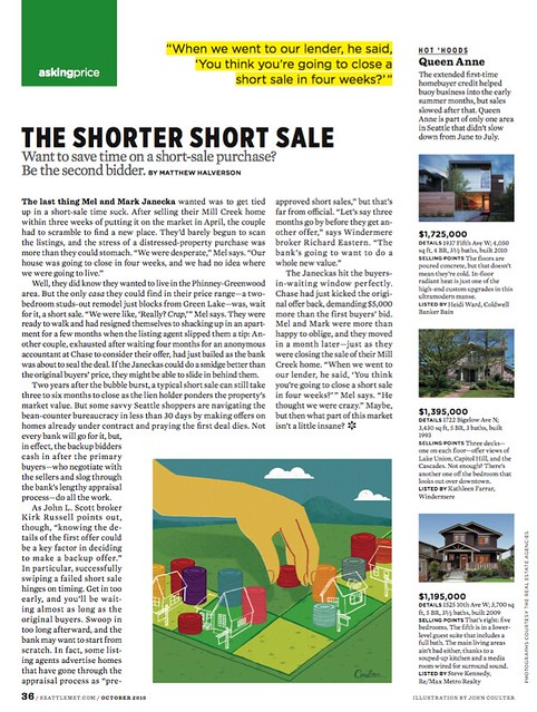 Seattle Met: Short Sale layout