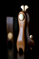 PEARGIR – Wooden Designer Toy by pepe (Matthew Dartford) Tags: lighting camera macro cute canon toy eos dof hand bokeh designer handmade small sigma off made figure 5d pepe macrolens ipad 150mm smallstuff stobist bugma 5dmkii pearger