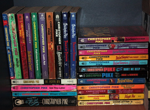 My Stash of Christopher Pike Books