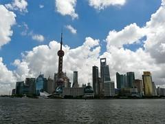 Skyline 11 am (cosmolino) Tags: china skyline day shanghai cloudy towers cosmolino