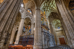 New Cathedral  Catedral Nueva, Salamanca, HDR 3 (marcp_dmoz) Tags: lighting new light espaa luz church architecture photoshop licht spain arquitectura nikon catholic cathedral interior perspective kathedrale catedral iglesia kirche stainedglass organ architektur perspectiva glasmalerei salamanca organo nikkor baroque 1735mmf28d nueva vidrieras hdr spanien neue beleuchtung orgel perspektive iluminacion barroco catolico gotisch castillayleon photomatix lategothic barrok tonemapped tonemapping tonemap castileandleon asunciondelavirgen d700 catholisch kastillienundleon goticotardio