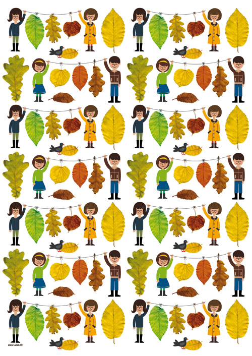 collecting leaves - new pattern