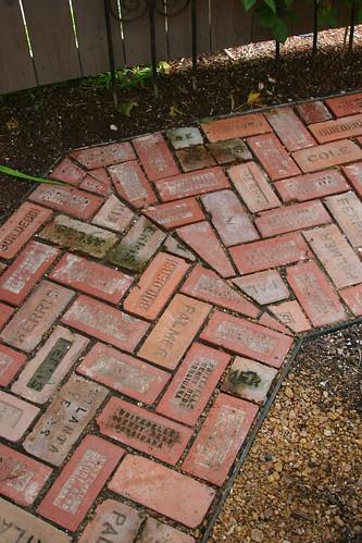 fun brick pathway