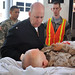 Navy Chaplain Greets Patients