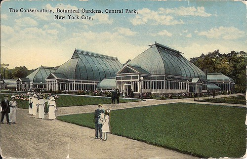 NYC Postcards - Conservatory at Botanical Gardens, Central Park