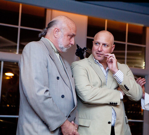 Top Chef's Tom Colicchio (on right)