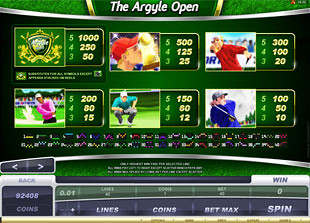 free The Argyle Open slot mini symbol