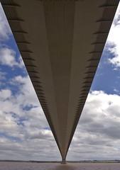 Beneath Humber Bridge (pixiepic's) Tags: bridge sky clouds river estuary v humber hessle platinumheartaward